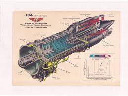 Westinghouse J34 cutaway