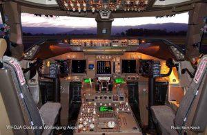 Boeing 747-438 Cockpit
